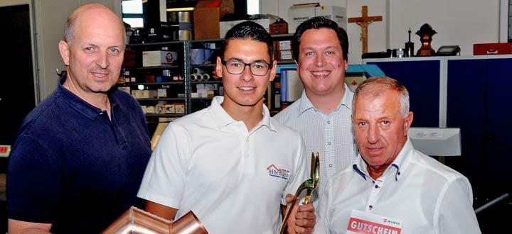 Lukas Kromoser ist Niederösterreichs bester Spengler-Lehrling-