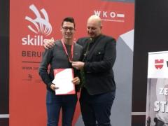 -Lukas Kromoser und Geschäftsführer Daniel Hörmann bei den AustrianSkills 2018 in Salzburg.